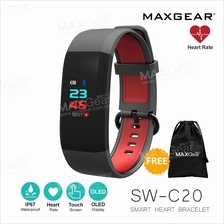 MAXGEAR C20 PLUS Colour LED Heart Rate Fitness Tracker Smart Watch