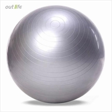 OUTLIFE 65CM PVC GYM YOGA BALL ANTI-SLIP FOR FITNESS TRAINING (SILVER)