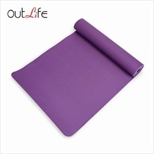 OUTLIFE ECO-FRIENDLY SKIDPROOF PREMIUM TPE YOGA MAT (PURPLE)