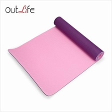 OUTLIFE 183CM DOUBLE LAYER ECO-FRIENDLY ANTI-SLIP TPE YOGA MAT (PURPLE