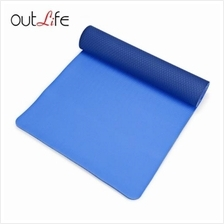 OUTLIFE 183CM DOUBLE LAYER ECO-FRIENDLY ANTI-SLIP TPE YOGA MAT (BLUE)