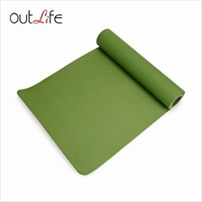 OUTLIFE ECO-FRIENDLY SKIDPROOF PREMIUM TPE YOGA MAT (GREEN)
