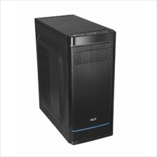 AVF CASING ATX SHIELDO (AC-SD573-B7) BLACK BLUE *WITH PSU*