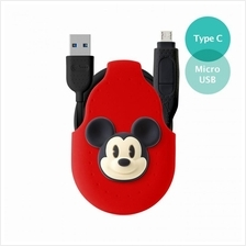 Bone Collection USB-C + MicroUSB 2-in-1 Cable - Mickey Mouse)