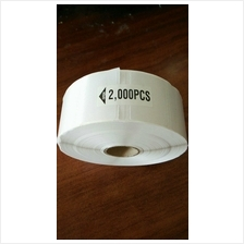 2000s/roll Blank Barcode Label Sticker for Ink Ribbon Printer 35*25 mm