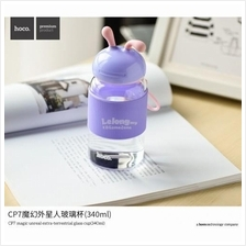 Hoco extra terrestrial glass Milk Cup Cute Drinking Water Tea Bottle
