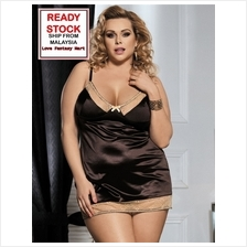 Plus Size Lingerie Sexy Babydoll (Brown) 3XL / 5XL [High Quality]