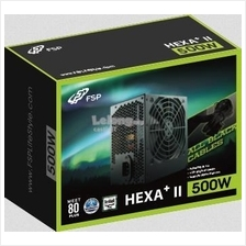 FSP Power Supply HEXA+ II Series 500W 80PLUS ATXPS500-HE+II