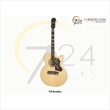 EPIPHONE EJ-200CE ACOUSTIC GUITAR, ROSEWOOD NECK, NATURAL