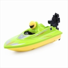 HUANQI 958A 2.4G 2CH 1:10 SCALE MINI RC BOAT TOY (GREEN)