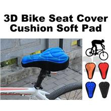 3D  Bike Bicycle Saddle Silicone Gel Seat Cover Cushion Soft Pad