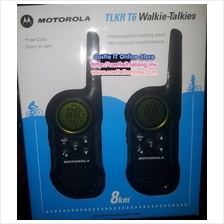 MOTOROLA Walkie Talkie 8KM RANGE (TLKR T6) TWIN -BUY ORIGINAL
