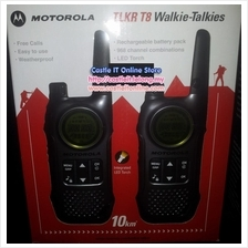 MOTOROLA Walkie Talkie 10KM RANGE (TLKR T8) TWIN -BUY ORIGINAL