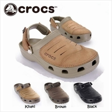 CROCS  Mens Yukon Clog Half leather Beach Sandals