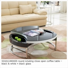 531011490025 round rotating close open coffee table