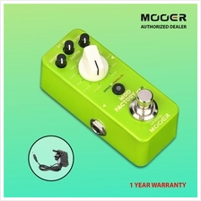 MOOER Mod Factory MKII Multi Modulation Pedal + 9V Power Adapter