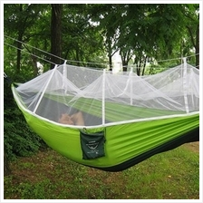 SINGLE PERSON PORTABLE PARACHUTE FABRIC MOSQUITO NET HAMMOCK FOR INDOO