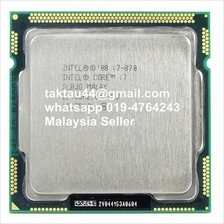 Intel Core i7 870 Processor 4 core 8 Thread 2.93GHz 95W LGA 1156 CPU
