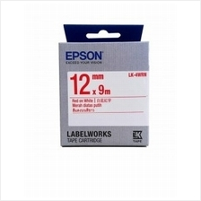 Epson Tape Label Red On White 12x9 (LK-4WRN)