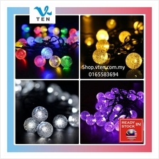 Waterproof 5 M Snow Bubble Ball Solar LED Light String 30LEDs Purple