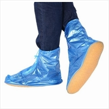MEN WOMEN PVC WATERPROOF SLIP-RESISTANT ZIPPER OVERSHOE RAIN SHOE COVE