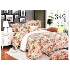 QUEEN SIZE FITTED BEDDING SET / 3PCS / FLOWER
