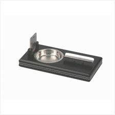 Cigar Ashtray wood black with cutter