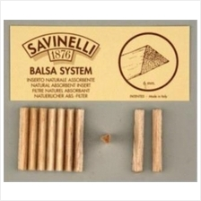 Savinelli balsa 6mm Smoking Pipe filter cont. 20 filters