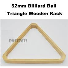 52mm  Snooker Billiard Cue Ball Triangle Wooden Wood Rack