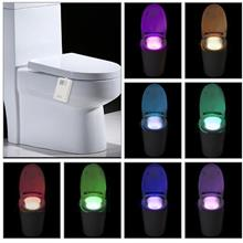 16 Colors LED Dimmable Flexible Toilet Seat Night Lamp Motion