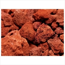 Aquarium Hardscape Red Lava Rock 1Kg for Decoration Bacteria House