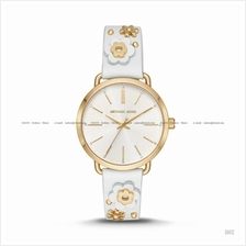 MICHAEL KORS MK2737 Women's Portia Floral Applique Leather White Gold