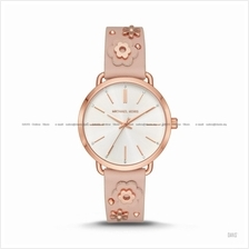 MICHAEL KORS MK2738 Women's Portia Floral Applique Leather Rose Gold