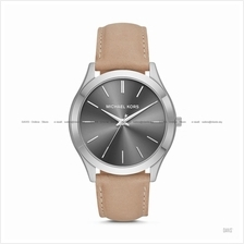 MICHAEL KORS MK8619 Men's Slim Runway 3-hand Classic Leather Grey