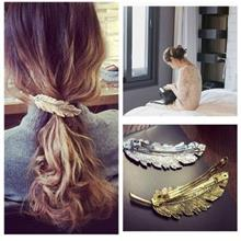 Hot Selling 2017 New Fashion Leaf Barrettes Hairpin Feather Hair Clip