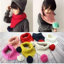 Cute Winter Soft Neckerchief Children's Wool Scarf Fashion Warm Knitte