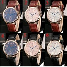 Leather Watches Unisex Men Women Fashion Quartz Watch Wristwatch