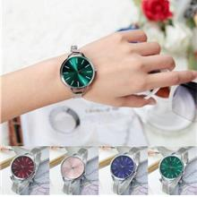 Women Bracelet Watch Silver Mesh Fine Band Waterproof Ladies Dress