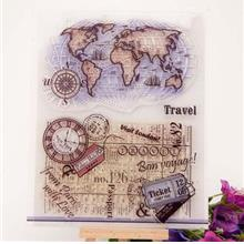 Earth DIY Gadgets Clear Rubber Stamp Transparent Seal Photo Album