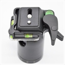 QB - 0 HEAVY DUTY BALL HEAD WITH QUICK RELEASE PLATE FOR MONOPOD TRIPO