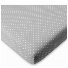 "Comfy Living - Fitted Sheet 24""x48"" - Grey Dot - 20% OFF!!)"
