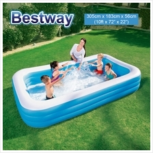BESTWAY 10ft 305cm Extra Large Inflatable Family Swimming Pool 54009