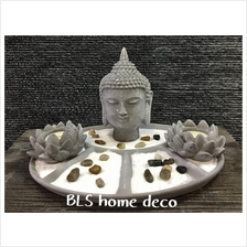 GREY COLOR BUDDHA H 16 CM HY081 HOME DECORATION