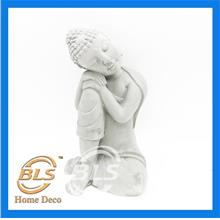 GREY COLOR BUDDHA H 23 CM HY039 HOME DECORATION