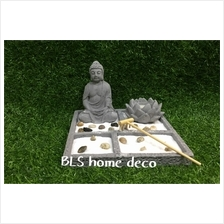 GREY COLOR BUDDHA H 12 CM HY012 HOME DECORATION