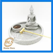 GREY COLOR BUDDHA H 16 CM HY083 HOME DECORATION