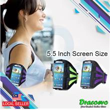 Mesh Breathy Sports Armband Gym Running For iPhone Samsung Android 5.5