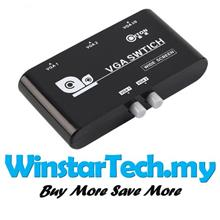 High Performance 2 In 1 Out VGA SVGA Selector Switch Switcher Splitter