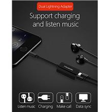 BSS Mcodo Dual Lightning Port Quick Charger Earphone Adapter
