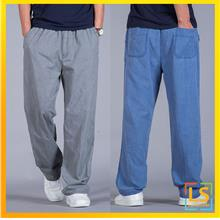 Men Cotton Linen Casual Long Pants